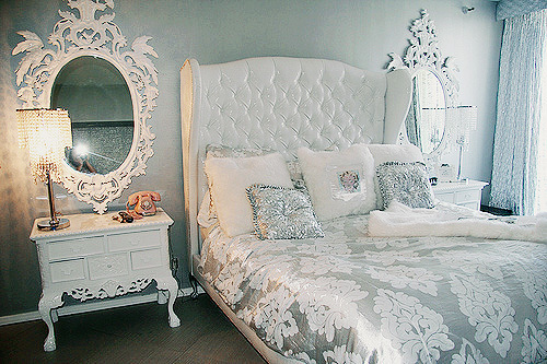 bedroom room silver white image 210961 on