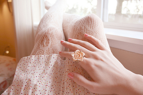 beige, fashion, floral, lace, pastel