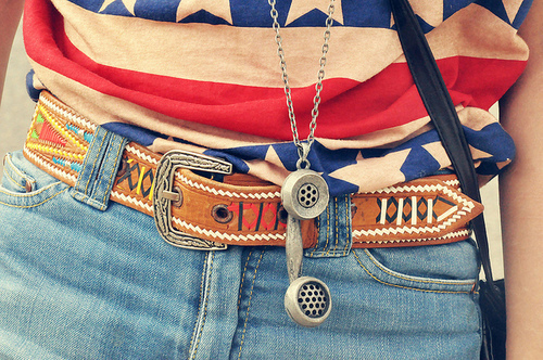 belt, denim, fashion, flag, girl