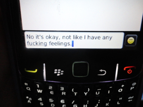 blackberry, feelings, love, message, phone