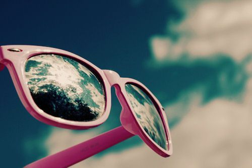 blue, cloud, pink, ray ban, separate with comma - image ...