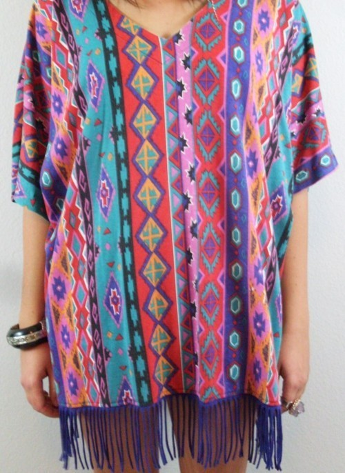 boho, bright, colors, colours, fashion, fringe, hipster, indian, native, shirt, tribal, turquoise