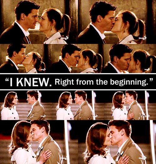 bones, booth, brennan, kiss