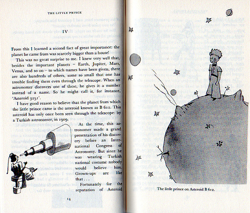 book, cute, draw, inmyownview, le petit prince, quote, text, the little prince