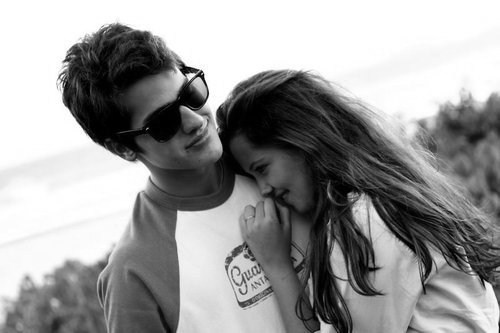 boy, couple, cuddle, feeling, girl, happy, love, smile
