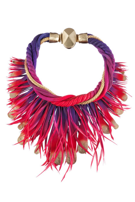 bright, choker, coral, fashion, fringe, gold, jewelry, magenta, necklace, pink, pruple