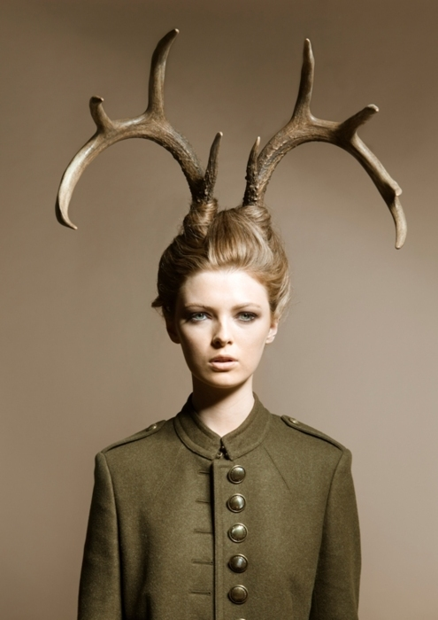 burberry, fashion, girl, horns, model