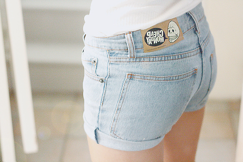 cheap monday, denim, denim shorts, fashion, jeans - image #212389 ...