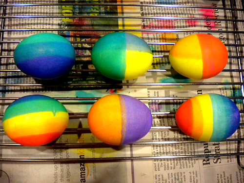 colored eggs, colorful, colors, dyed eggs, easter