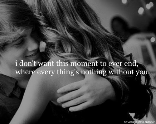 couple, cute, end, heart, love, moment, quote, you