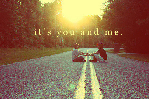 couple, love, road, you, you and me - image #212934 on ...