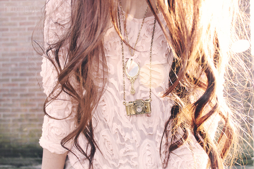 curly, cute, fashion, hair, necklace