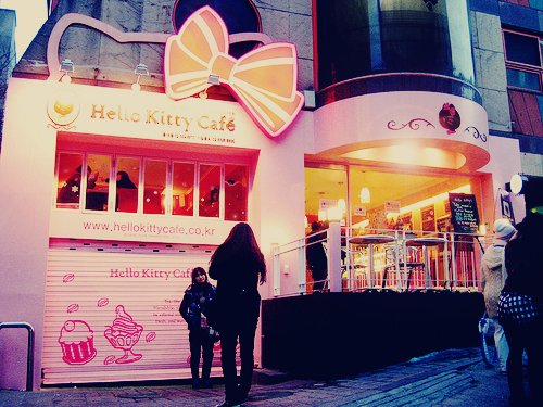 cute, funny, hello kitty, hello kitty cafe, photography