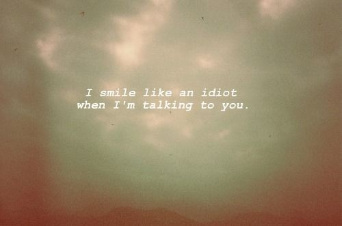 cute, idiot, love, quote, smile, text, you