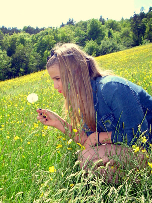denim, flower, summer, vintage