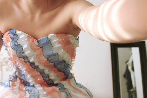 dress, pretty, ruffles