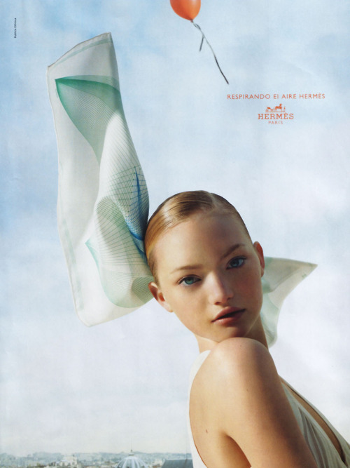 face, fashion, gemma ward, girl, hermes, model