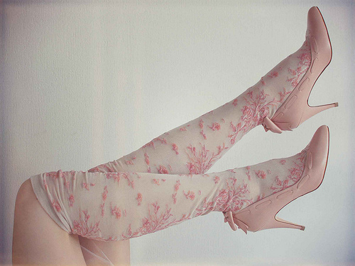 floral, girl, pink, pretty, ribbon, separate with comma, shoes