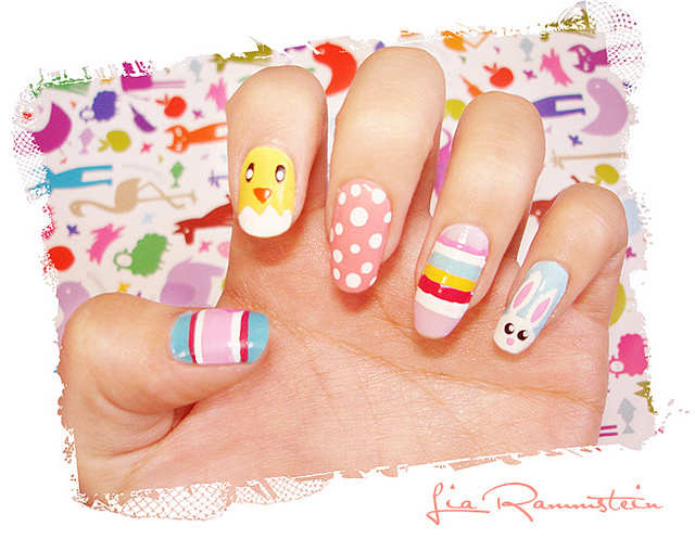 happy easter, nail, nail art and pascoa