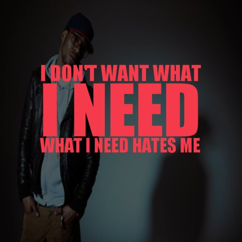 hate, kid cudi, quote, red, text