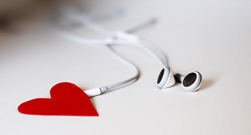 headphones, heart, ipod, music