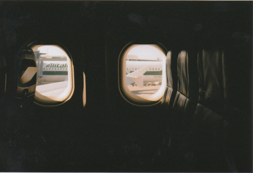 airplane, plane, window