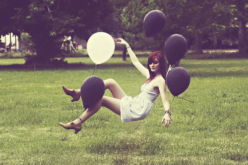 alternative, balloon, girl, hot, retro