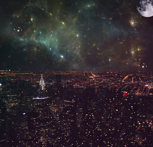 amazing, city, city lights, galaxy, lights