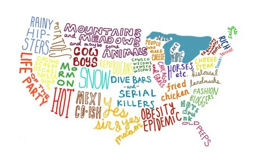 america, americano, conceptual, funny, map, text, usa