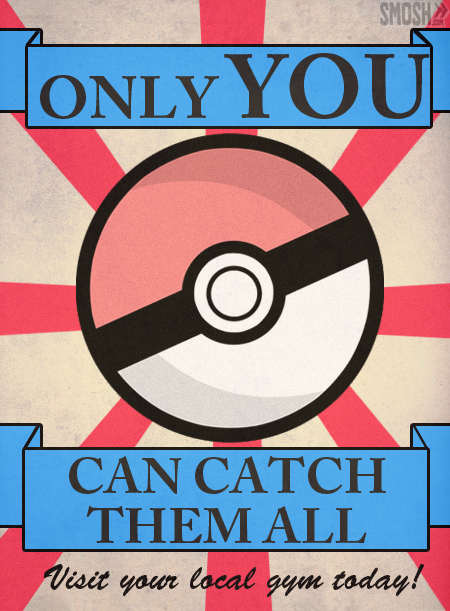 anime, catch them all, cool, gym, pokemon