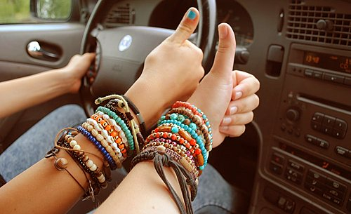 art, beautiful, bracelets, colorful, driving