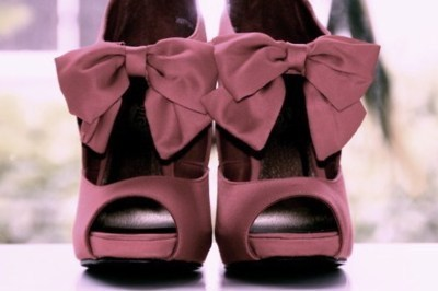 awesome, fashion, heels, high heels, perfect, pink, pretty, purple, ribbon, satin, shoes