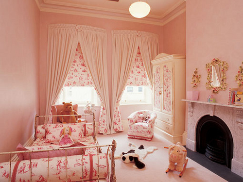 baby, beautiful, bedroom, cream, curtain, cute, girly, gold, little, little girl, mirror, pastel, pattern, photo, photography, pink, room, rose