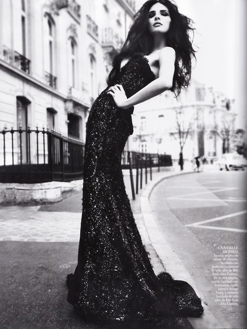 ball gown, black and white, dress, editorial, fashion
