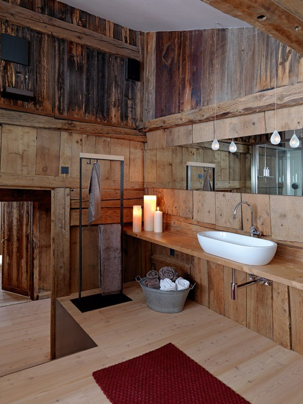 bathroom, rustic, sink, wood