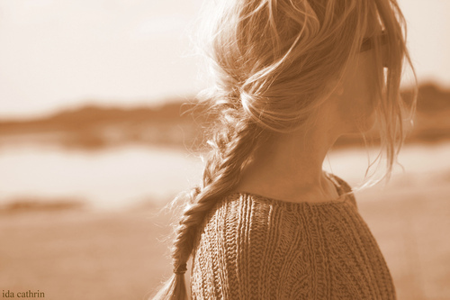 beach, blonde, braid, braud, fashion