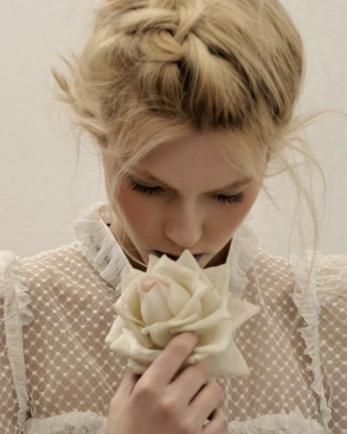 beautiful, beauty, blonde, braid, cream, fashion, flower, girl, hair, hairstyle, lady, lovely, model, nice, pastel, pretty, sheer, updo, white, woman