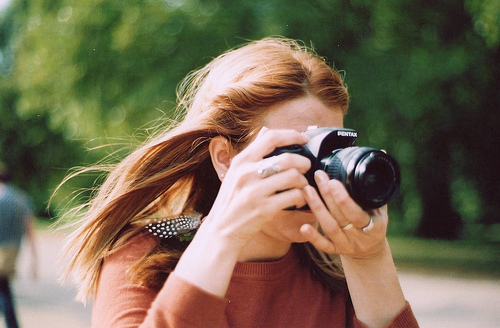 beautiful, camera, dslr, girl, green