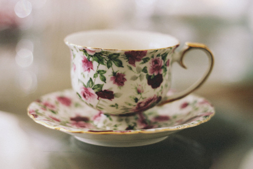 beautiful, cup, floral, flower, green, lovely, nice, pattern, photo, photography, pretty, print, purple, rose, tea, teacup, violet