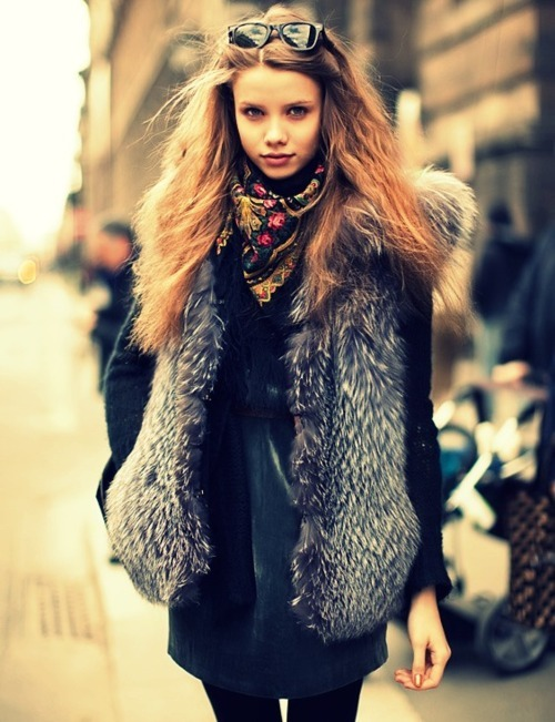 beautiful, fashion, faux fur, fur, girl