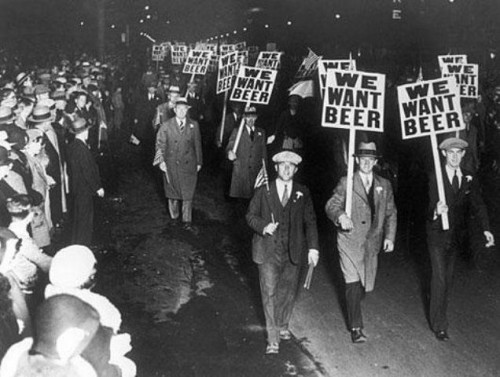 beer, black and white, prohibition, protest