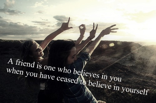 belief, friend, friendship, girl, love, peace, quote, smile, together, trust