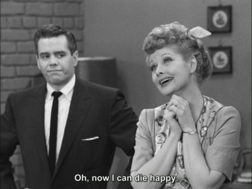 black and white, happy, i love lucy, love, lucy