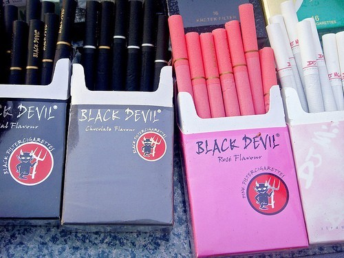 black devil, chocolate, cigarettes, cigars, tobacco
