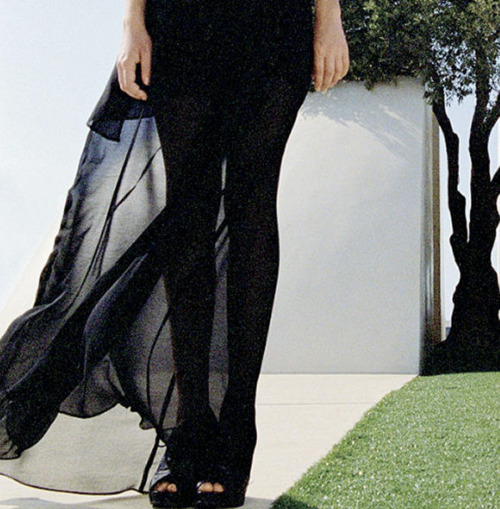 black, fashion, legs, maxi, sheer