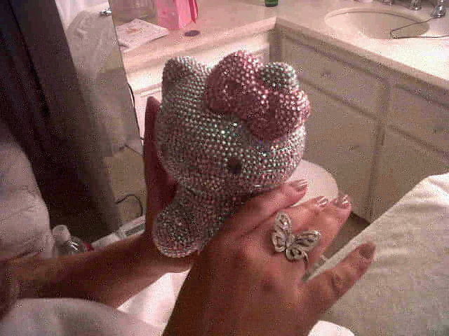 bling, butterfly, hello kitty, mariah carey
