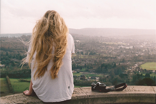 blonde, camera, country, cute, girl, hair, indie, photography, vintage, wind