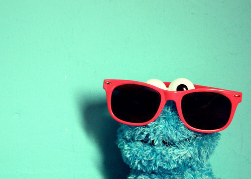 Blue Cookie Monster Funny Glasses Monstruo Las Galletas