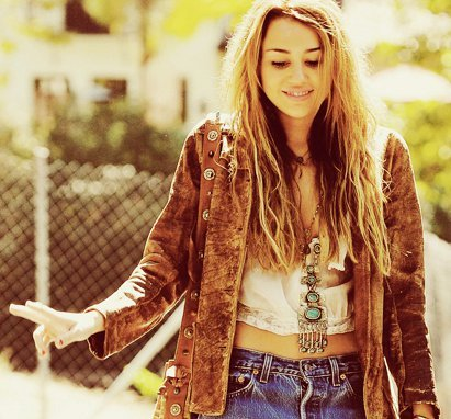 boho, chic, cute, girl, miley cyrus - image #214763 on ...Miley Cyrus Bohemian Style