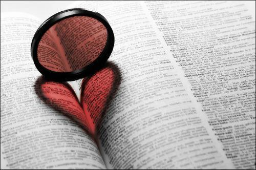 book, cute, dictionary, heart, love, red, words